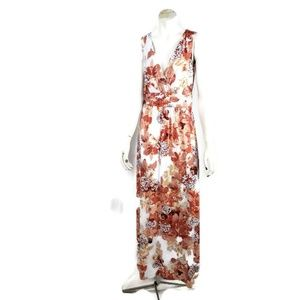 Soma Maxi Dress Medium Floral Sleeveless VNeck